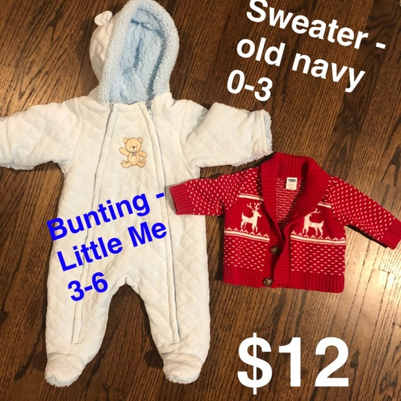 d28e1c105 Little Me Jackets & Coats   Baby Boy Bunting And Sweater   Poshmark